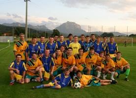 Fußball Kirchham vs. UJZ in der Traunsteinarena