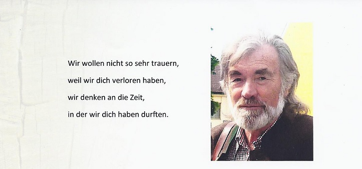 Nachruf Walter Bach