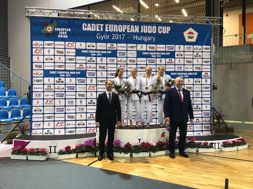 Lea steht am Stockerl beim Cadet European Judo Cup in Györ