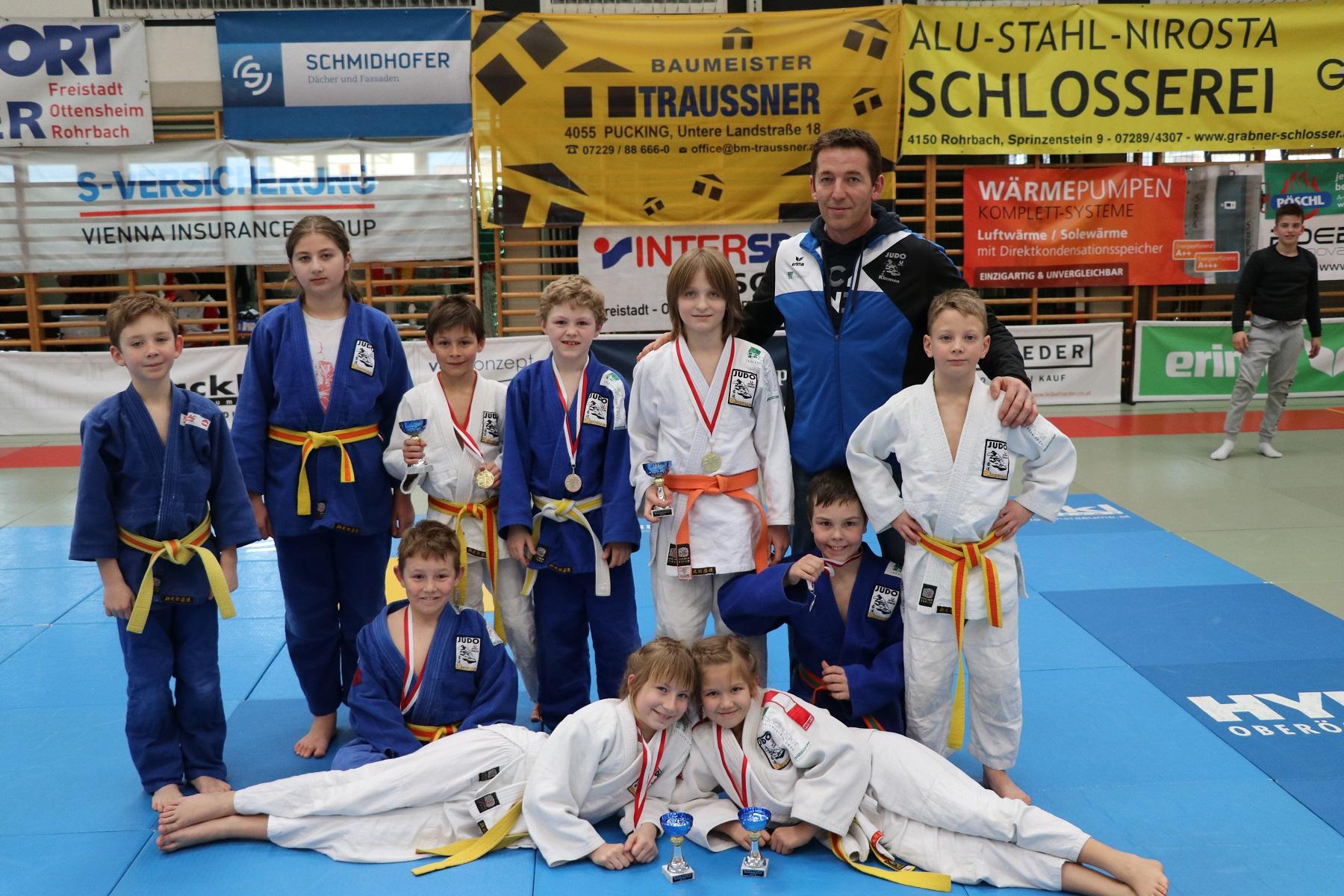 Hervorragendes Ergebnis beim Int. Judoturnier U10-U12 in Rohrbach